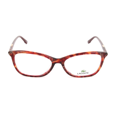 Women's L2791 Optical Frames // Striped Red