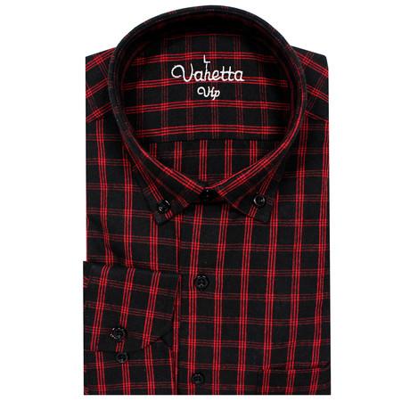 Richard Classic Fit Shirt // Black + Red (S)