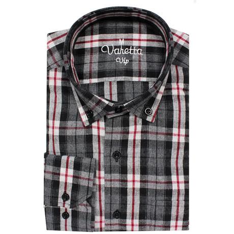 Ruben Classic Fit Shirt // Smoke + Red (S)