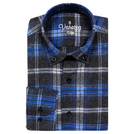 Scott Classic Fit Shirt // Black + Blue (S)