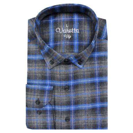 Harvey Classic Fit Shirt // Smoke + Blue (S)