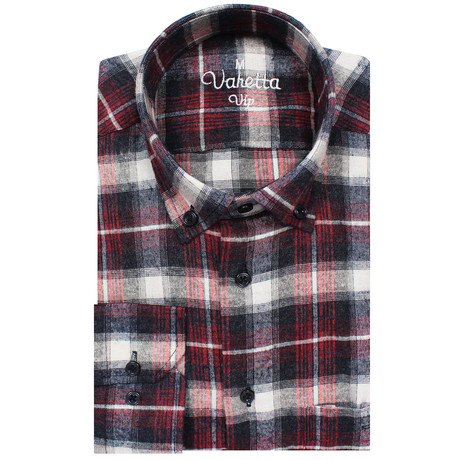 Ciaran Classic Fit Shirt // Black + Red (S)
