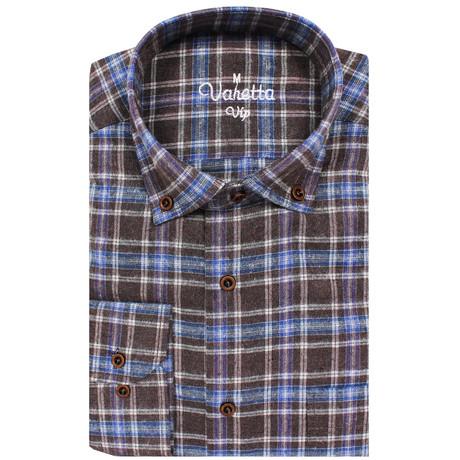 Austin Classic Fit Shirt // Brown + Blue (S)