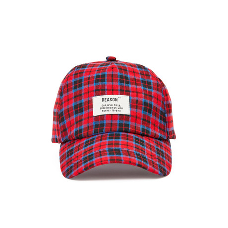 Check Dad Cap // Red