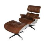 Aviator Mid-Century Modern Chair + Ottoman