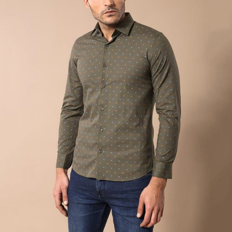 Vaughn Slim-Fit Shirt // Olive Green (S)