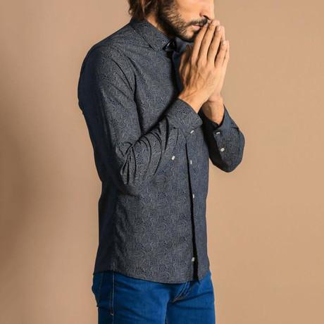 Dru Slim-Fit Shirt // Navy (S)