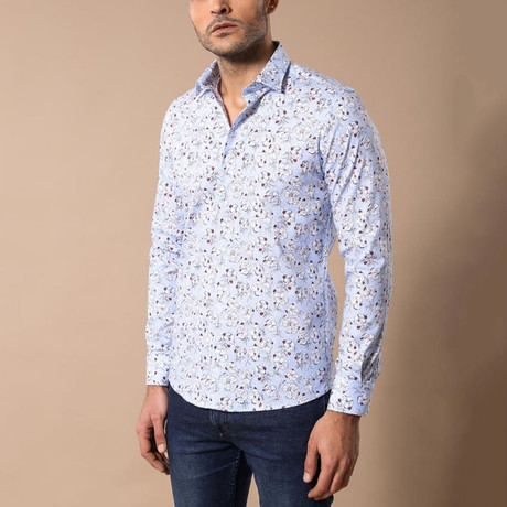 Xavier Slim-Fit Shirt // Light Blue (S)