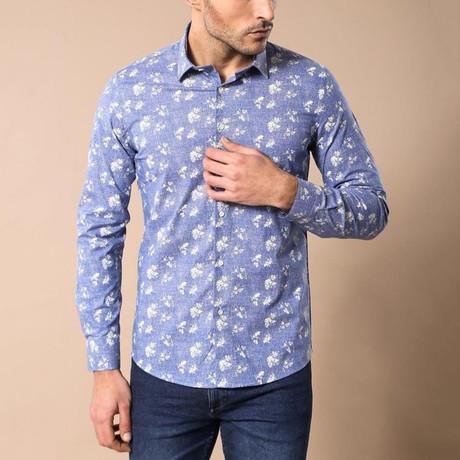 Wilmod Slim-Fit Shirt // Light Blue (S)