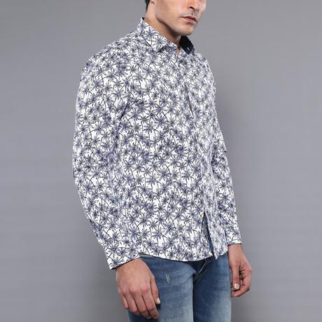 Violet Slim-Fit Shirt // White + Blue (S)