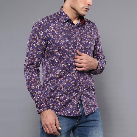 Warren Slim-Fit Shirt // Purple (S)