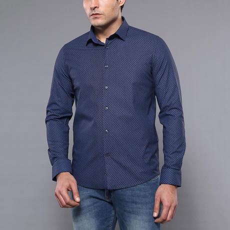 Bryant Slim-Fit Shirt // Navy (S)