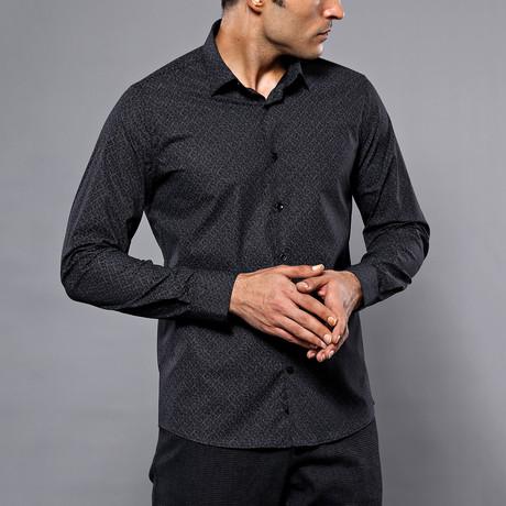Calder Slim-Fit Shirt // Black (S)