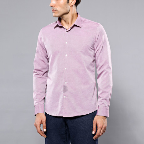 Hampton Slim-Fit Shirt // Burgundy (S)