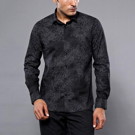 Darnell Slim-Fit Shirt // Black (S)