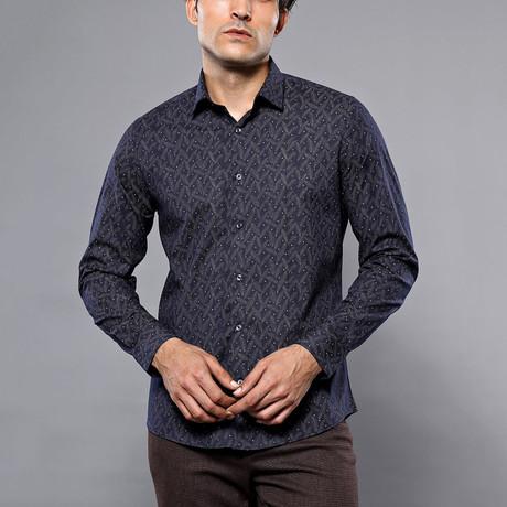 Ebony Slim-Fit Shirt // Navy (S)