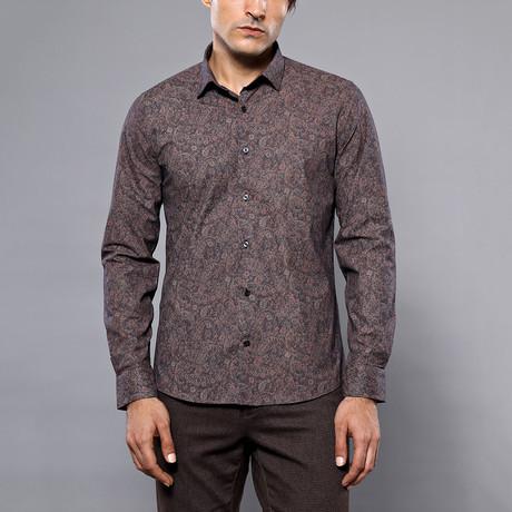 Hugo Slim-Fit Shirt // Brown (S)