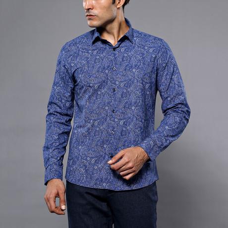 Severin Slim-Fit Shirt // Blue (S)