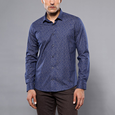 Erik Slim-Fit Shirt // Navy (S)