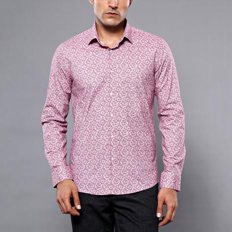 Jarran Slim-Fit Shirt // Burgundy (S)