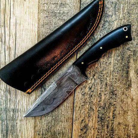 Sweep Damascus Skinner Black
