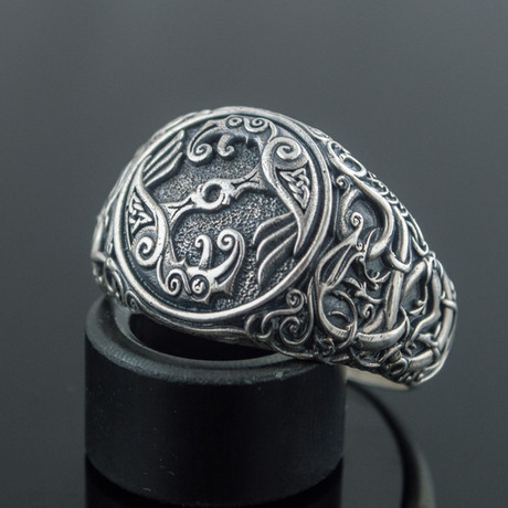 Viking Collection // Urnes Ornament + Ravens Ring (5)