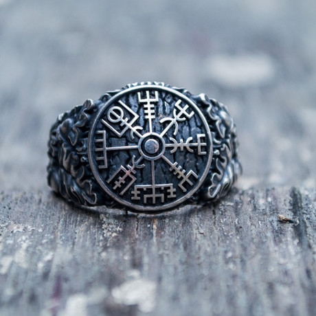 Viking Collection // Oak Leaves + Vegvisir Ring (5)