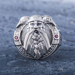 Odin Red Gems Ring (10)