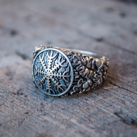 Viking Collection // Oak Leaves + Helm of Awe Ring (5)
