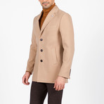 Tyler Wool Coat // Dark Beige (Euro: 50)