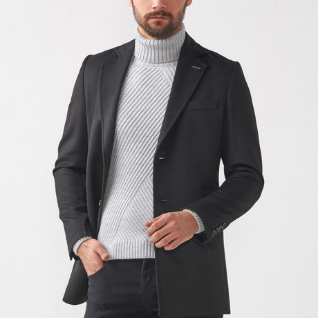 Eric Wool Coat // Black (Euro: 46)