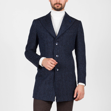 Myer Wool Coat // Dark Blue (Euro: 46)