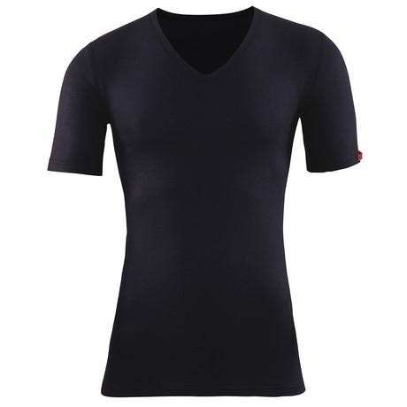 Unisex V-Neck Short Sleeve T-Shirt // Black (XS)