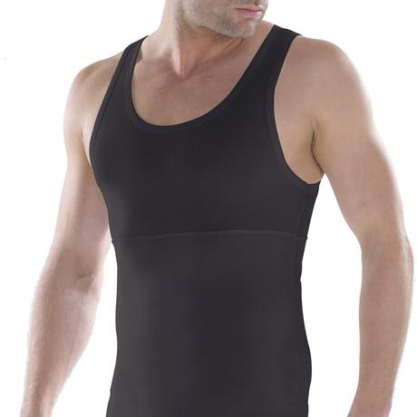Men's Shapewear Tank Top // Black (XS)