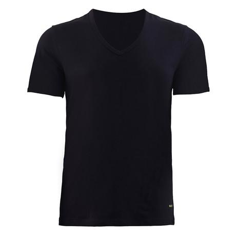 Men's V-Neck T-Shirt // Black (XS)