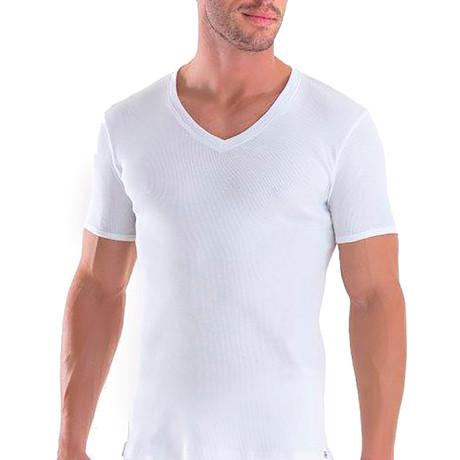 Men's V-Neck T-Shirt // White (XS)