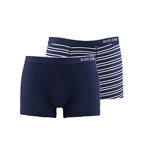 Men's Striped Boxers // Navy // Pack of 2 (XS)