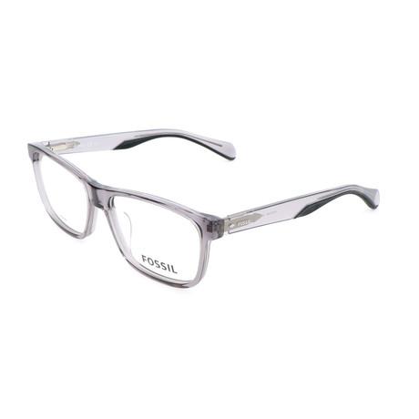 Men's 7046 63M Optical Frames // Crystal + Matte Dark Gray