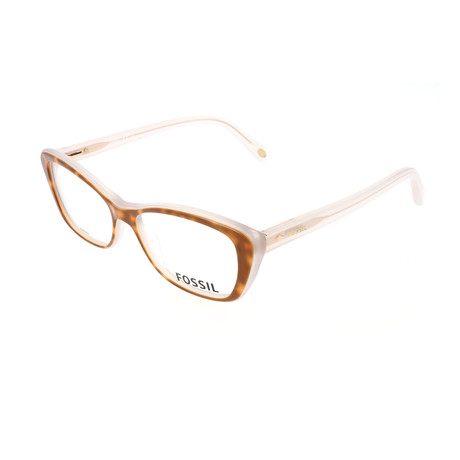 Women's 6057 OLH Optical Frames // Havana White Opal