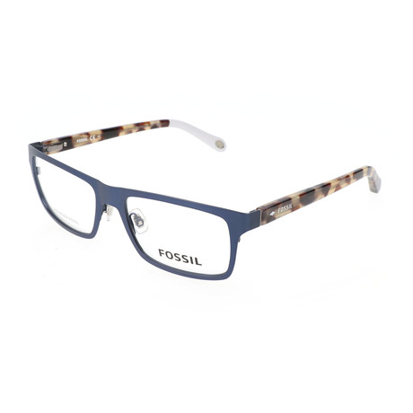 Men's 6069 RTT Optical Frames // Blue + Khaki Havana
