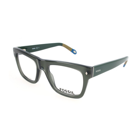 Men's 6029 GXT Optical Frames // Transparent Dark Green Khaki Mud