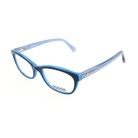 Women's 6058 OLX Optical Frames // Navy Azure + Transparent Blue