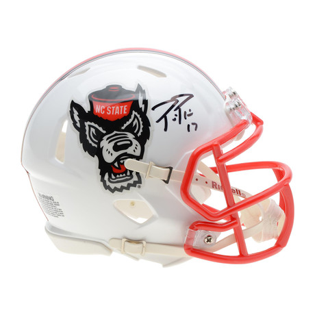 Signed Riddell Speed Mini Helmet // NC State Wolfpack // Philip Rivers
