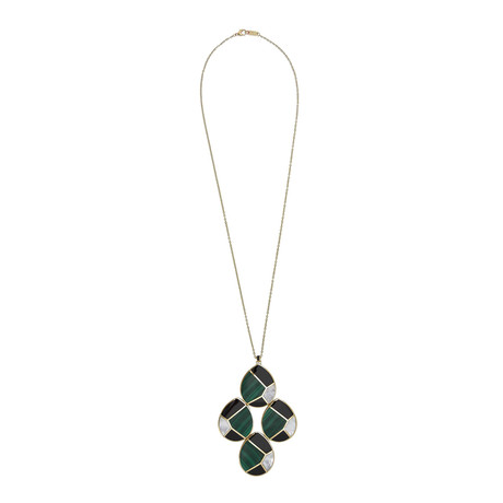 Ippolita Polished Rock Candy 18k Yellow Gold Multi-Stone Large Teardrop Pendant Necklace