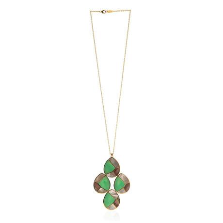 Ippolita Polished Rock Candy 18k Yellow Gold Multi-Stone Teardrop Pendant Necklace I