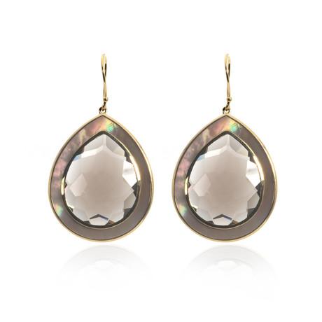 Ippolita Ondine 18k Yellow Gold Quartz Earrings