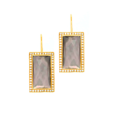 Ippolita 18k Gold Gelato Small Baguette Vertical Earrings