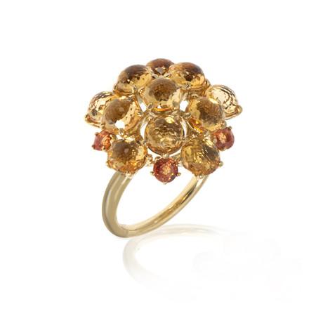 Ippolita Lollipop 18k Yellow Gold Sapphire + Citrine Ring // Ring Size: 7