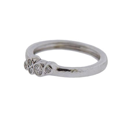 Gurhan 18k White Gold Pointelle Diamond Ring // Ring Size: 6.75