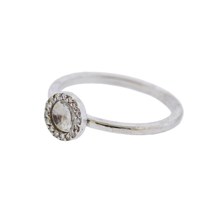 Gurhan 18k White Gold Small Hourglass Diamond Ring // Ring Size: 6.75